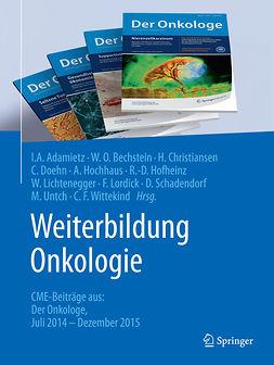 Adamietz, Irenäus A. - Weiterbildung Onkologie, ebook