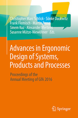 Duckwitz, Sönke - Advances in Ergonomic Design of Systems, Products and Processes, ebook