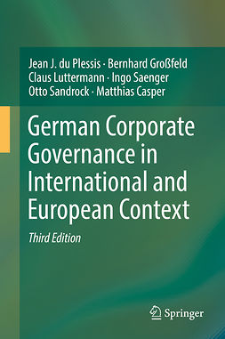 Casper, Matthias - German Corporate Governance in International and European Context, e-bok