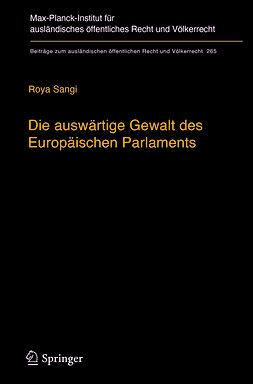 Sangi, Roya - Die auswärtige Gewalt des Europäischen Parlaments, e-bok