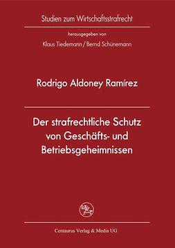 Ramírez, Rodrigo Aldoney - Der strafrechtliche Schutz von Geschäfts- und Betriebsgeheimnissen, ebook