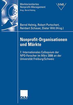 Helmig, Bernd - Nonprofit-Organisationen und Märkte, ebook