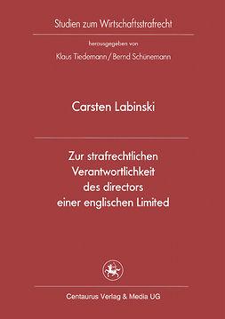 Labinski, Carsten - Zur strafrechtlichen Verantwortlichkeit des directors einer englischen Limited, ebook