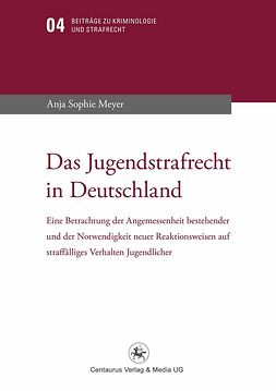 Meyer, Anja Sophie - Das Jugendstrafrecht in Deutschland, ebook