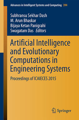 Bhaskar, M. Arun - Artificial Intelligence and Evolutionary Computations in Engineering Systems, e-bok