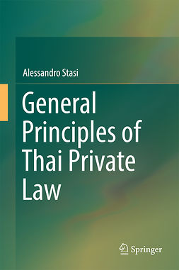 Stasi, Alessandro - General Principles of Thai Private Law, e-kirja