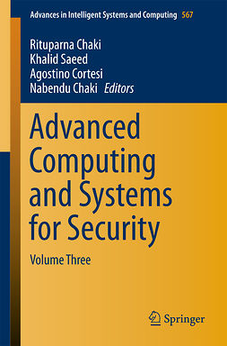 Chaki, Nabendu - Advanced Computing and Systems for Security, e-bok