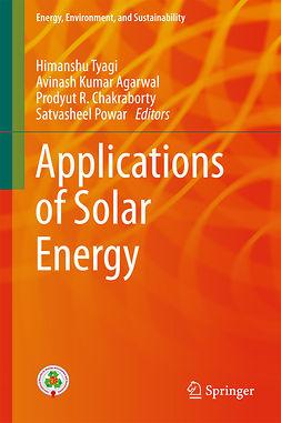 Agarwal, Avinash Kumar - Applications of Solar Energy, e-kirja