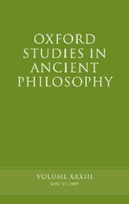 Oxford Studies in Ancient Philosophy XXXIII