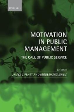 , James L. Perry - Motivation in Public Management : The Call of Public Service, ebook