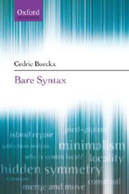 Boeckx, Cedric - Bare Syntax, e-bok