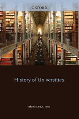 Feingold, Moredchai - History of Universities : Volume XXIII/1, ebook