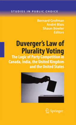 Bowler, Shaun - Duverger's Law of Plurality Voting, ebook