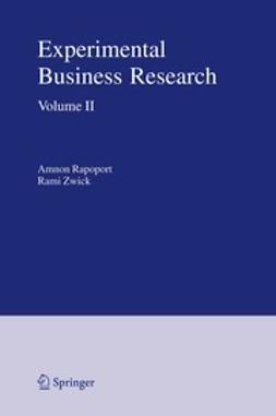Rapoport, Amnon - Experimental Business Research, ebook