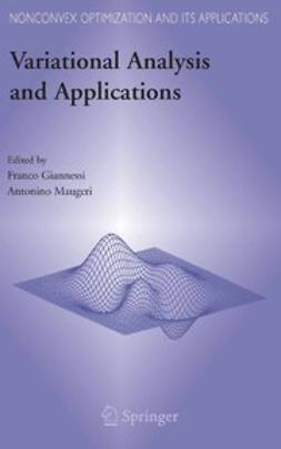 Giannessi, Franco - Variational Analysis and Applications, e-bok
