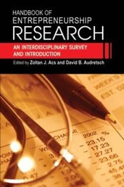 Acs, Zoltan J. - Handbook of Entrepreneurship Research, e-bok
