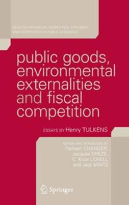 Chander, Parkash - Public goods, environmental externalities and fiscal competition, ebook