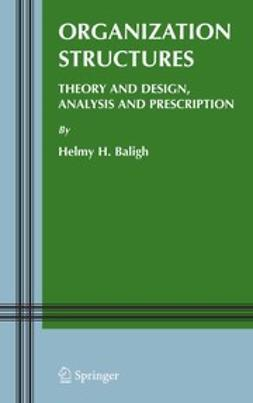 Baligh, Helmy H. - Organization Structures: Theory and Design, Analysis and Prescription, ebook