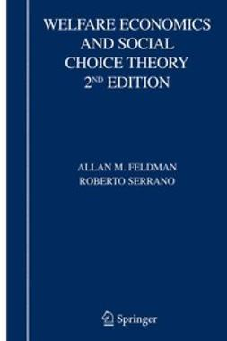 Feldman, Allan M. - Welfare Economics and Social Choice Theory, 2nd Edition, e-kirja