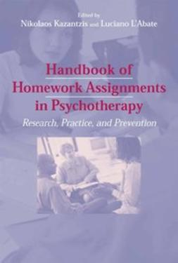 Kazantzis, Nikolaos - Handbook of Homework Assignments in Psychotherapy, ebook