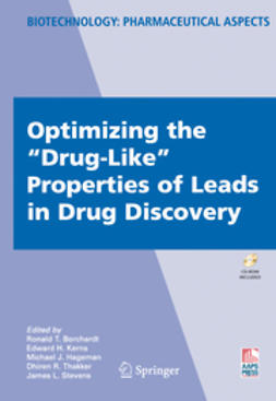 "Borchardt, Ronald T. - Optimizing the ""Drug-Like"" Properties of Leads in Drug Discovery, ebook"