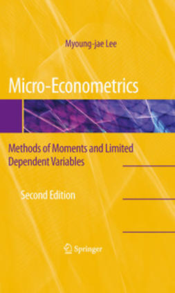 Lee, Myoung-jae - Micro-Econometrics, ebook