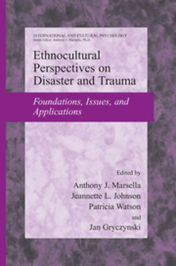 Gryczynski, Jan - Ethnocultural Perspectives on Disaster and Trauma, ebook