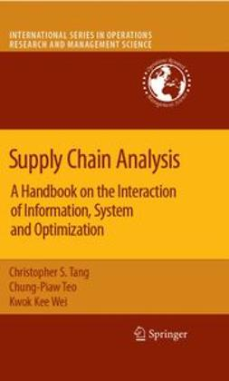 Tang, Christopher S. - Supply Chain Analysis, ebook