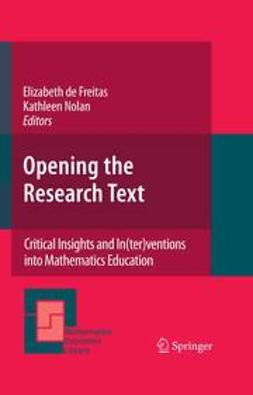 Freitas, Elizabeth - Opening the Research Text, ebook