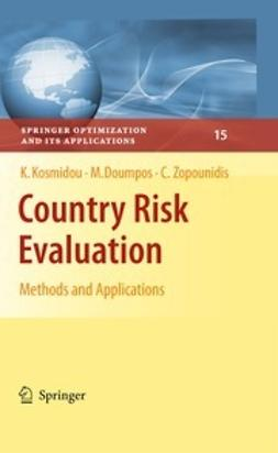 Kosmidou, Kyriaki - Country Risk Evaluation, ebook