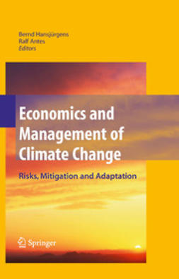 Antes, Ralf - Economics and Management of Climate Change, ebook