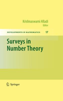 Alladi, Krishnaswami - Surveys in Number Theory, e-bok