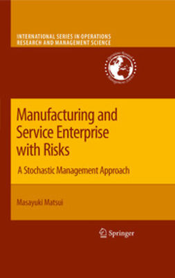 Matsui, Masayuki - Manufacturing and Service Enterprise with Risks, ebook