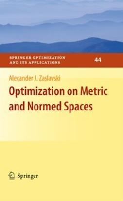 Zaslavski, Alexander J. - Optimization on Metric and Normed Spaces, ebook