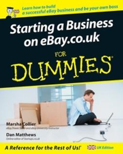 Collier, Marsha - Starting a Business on eBay.co.uk For Dummies, ebook