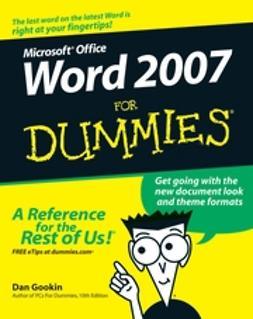 Gookin, Dan - Word 2007 For Dummies, ebook
