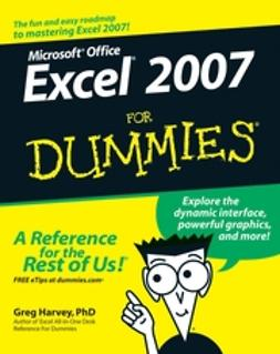 Harvey, Greg - Excel 2007 For Dummies, ebook