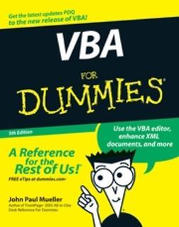 Mueller, John Paul - VBA For Dummies, ebook