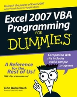 Pieterse, Jan Karel - Excel 2007 VBA Programming For Dummies, ebook
