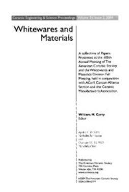 Carty, William M. - Whitewares and Materials: Ceramic Engineering and Science Proceedings, ebook