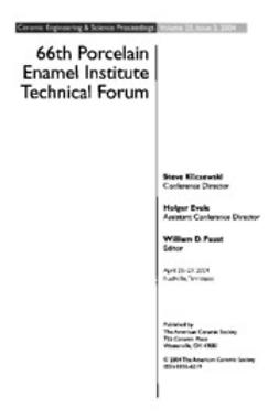 Kilczewski, Steve - 66th Porcelain Enamel Institute Technical Forum: Ceramic Engineering and Science Proceedings, ebook