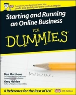 Matthews, Dan - Starting and Running an Online Business For Dummies<sup>&#174;</sup>, ebook