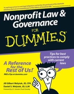 Welytok, Jill Gilbert - Nonprofit Law & Governance For Dummies, ebook