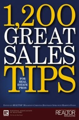 Evans, Mariwyn - 1,200 Great Sales Tips for Real Estate Pros, ebook
