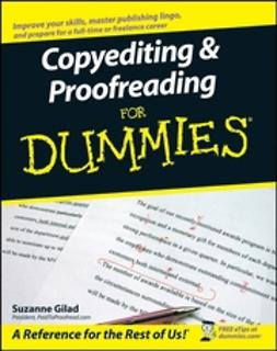 Gilad, Suzanne - Copyediting & Proofreading For Dummies, ebook