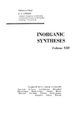 UNKNOWN - Inorganic Syntheses, ebook