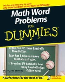 Sterling, Mary Jane - Math Word Problems For Dummies, ebook