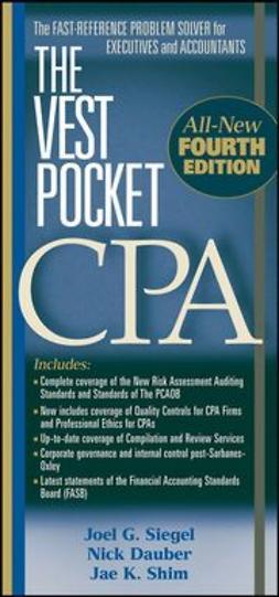 Siegel, Joel G. - The Vest Pocket CPA, ebook