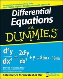 Holzner, Steven - Differential Equations For Dummies, ebook