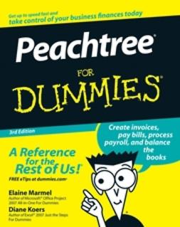 Koers, Diane - Peachtree For Dummies, ebook